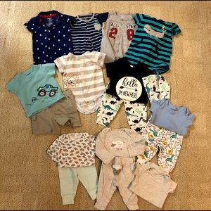 Ten 0-3 Month Boys Outfits